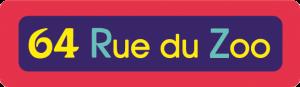 Logo 64 rue du zoo - Animée pour enfant - 2 minutes : Animation, compositing.