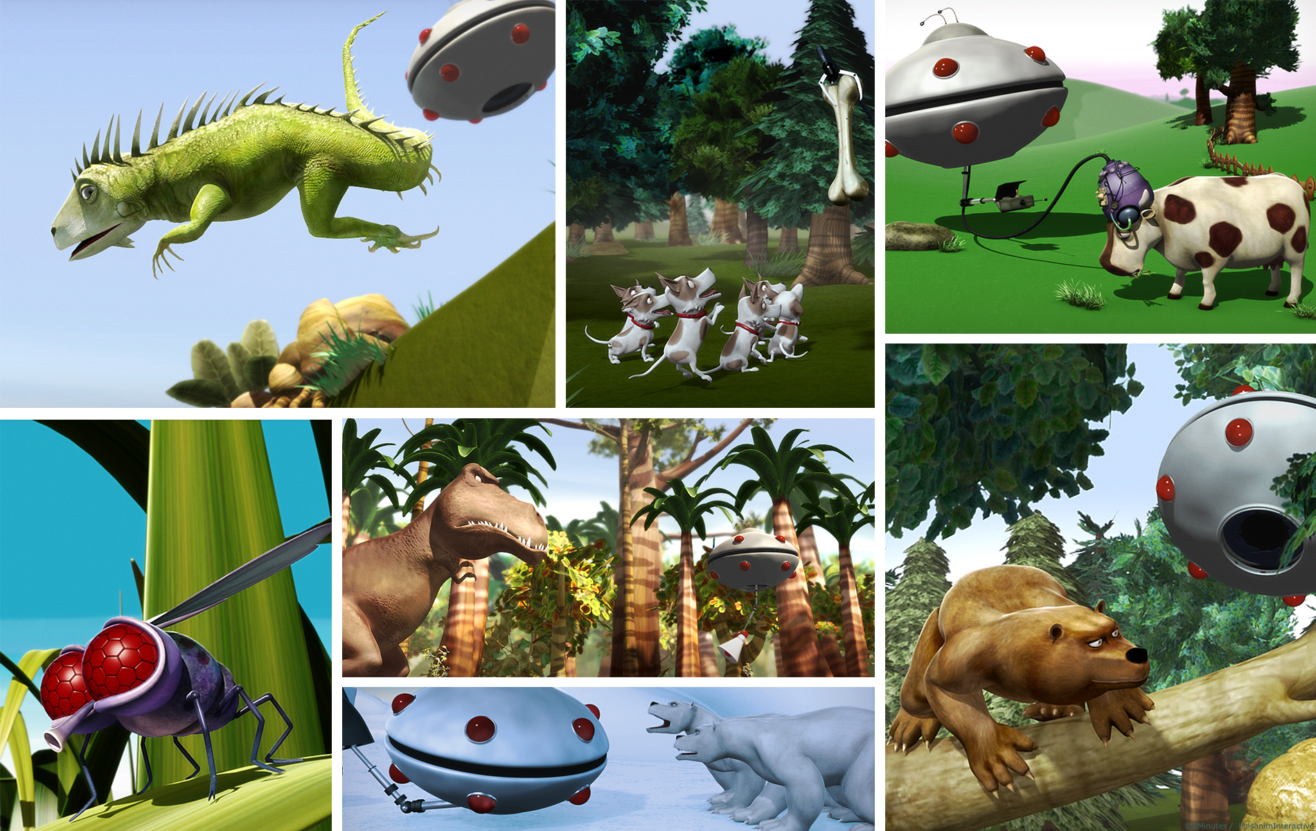 Alien zoo - Série animée 3D - Décors, animatique, animation, compositing, montage par 2 minutes