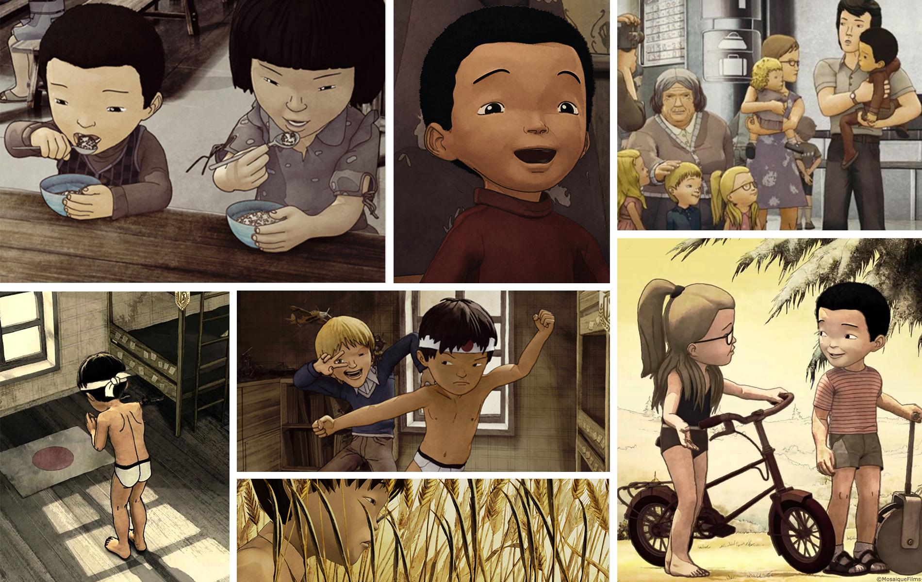 Couleur de peau miel - Animation long métrage - Design personnages, lay-out 2D par 2 minutes