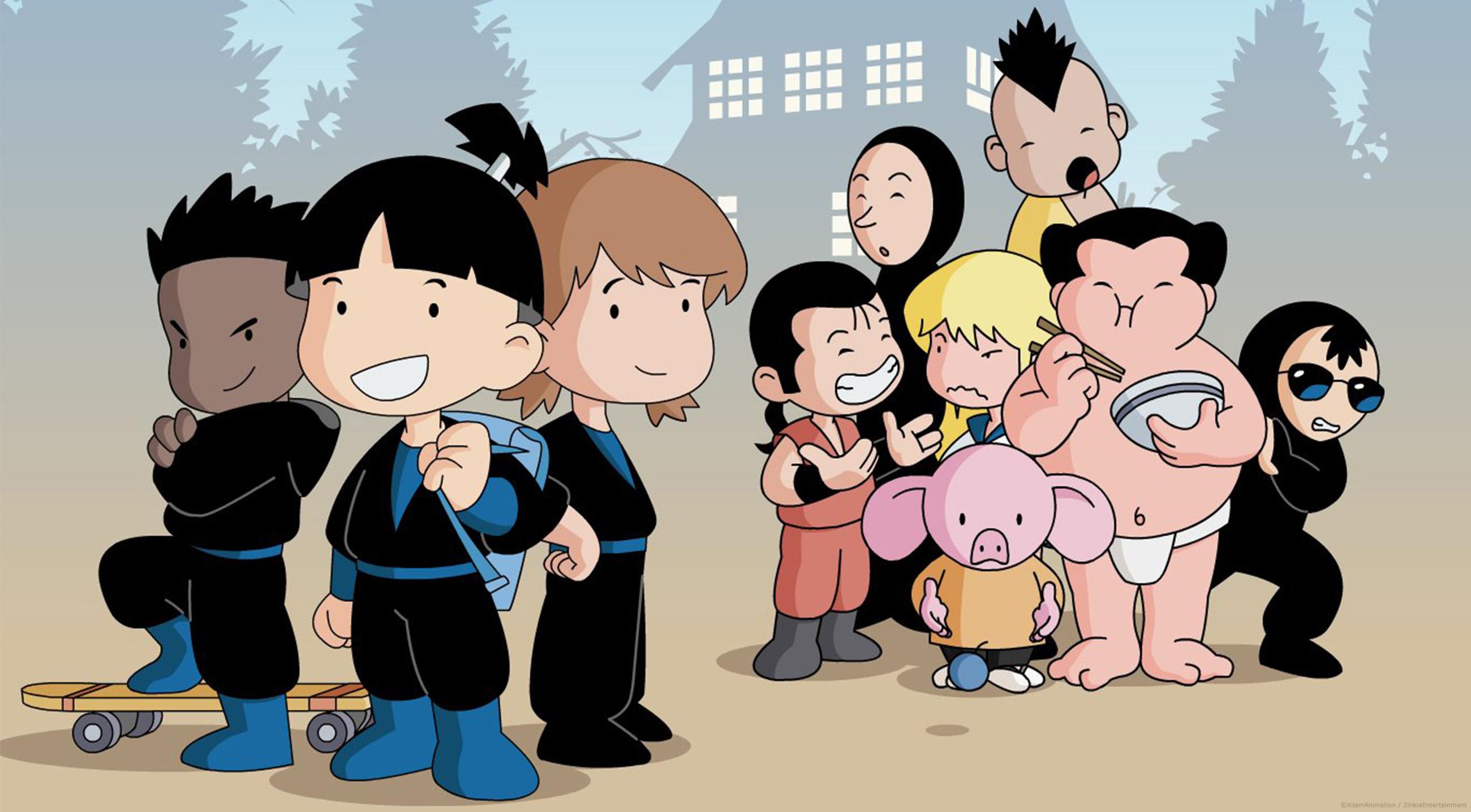 Shuriken school dessin anim e pour enfant d cors - Shuriken school ...