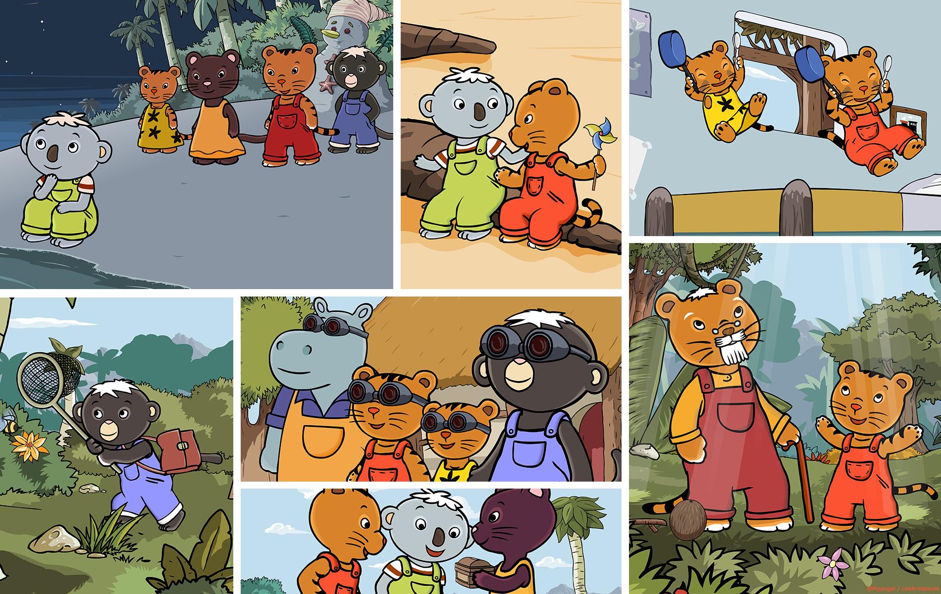 Cajou - Série animée preschool - Builds, décors, animatique, animation, montage par 2 minutes