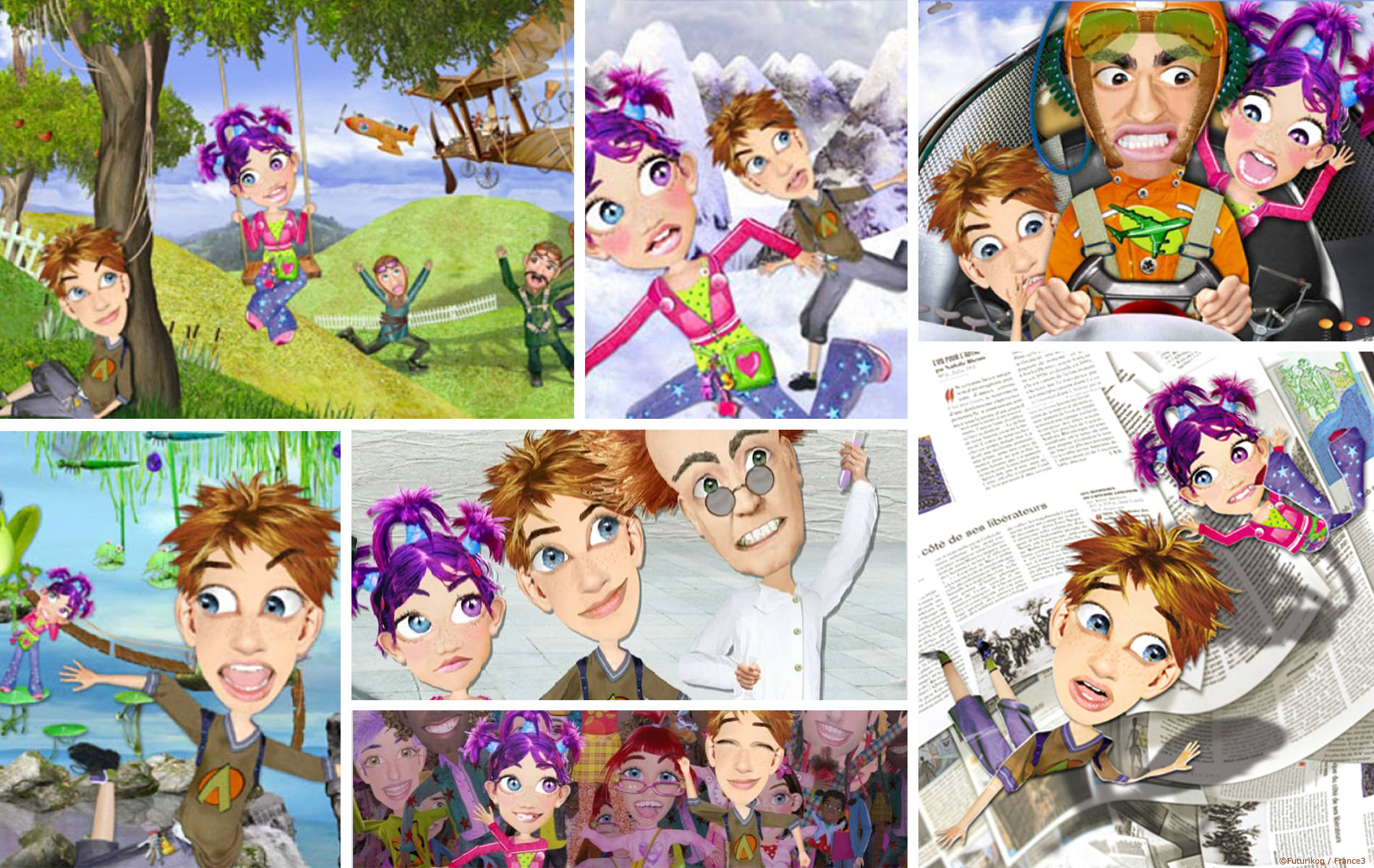 Flat Mania - dessin animee kids 2D -Animation, compositing par 2 Minutes