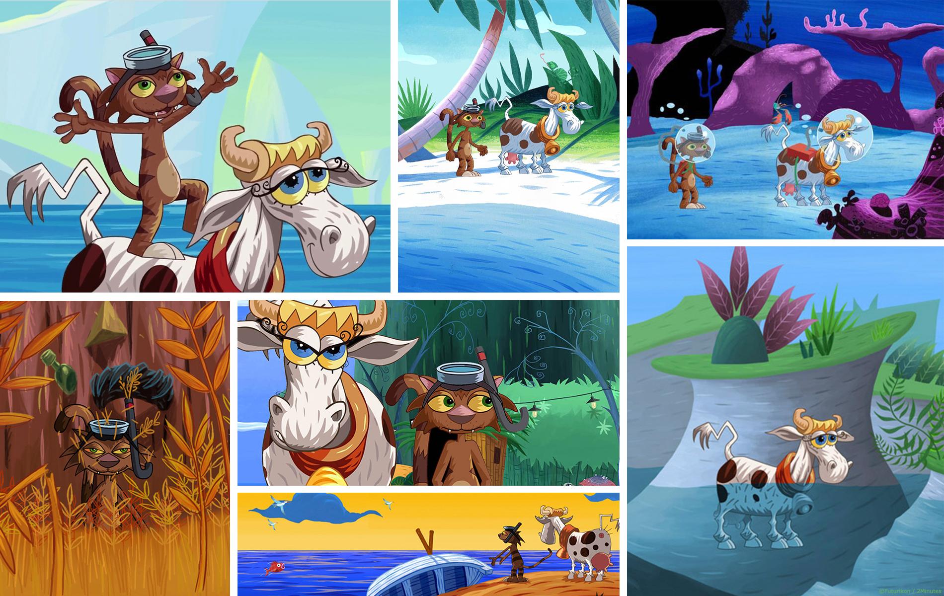 La vache, le chat et l'ocean - Animation, compositing par 2 minutes