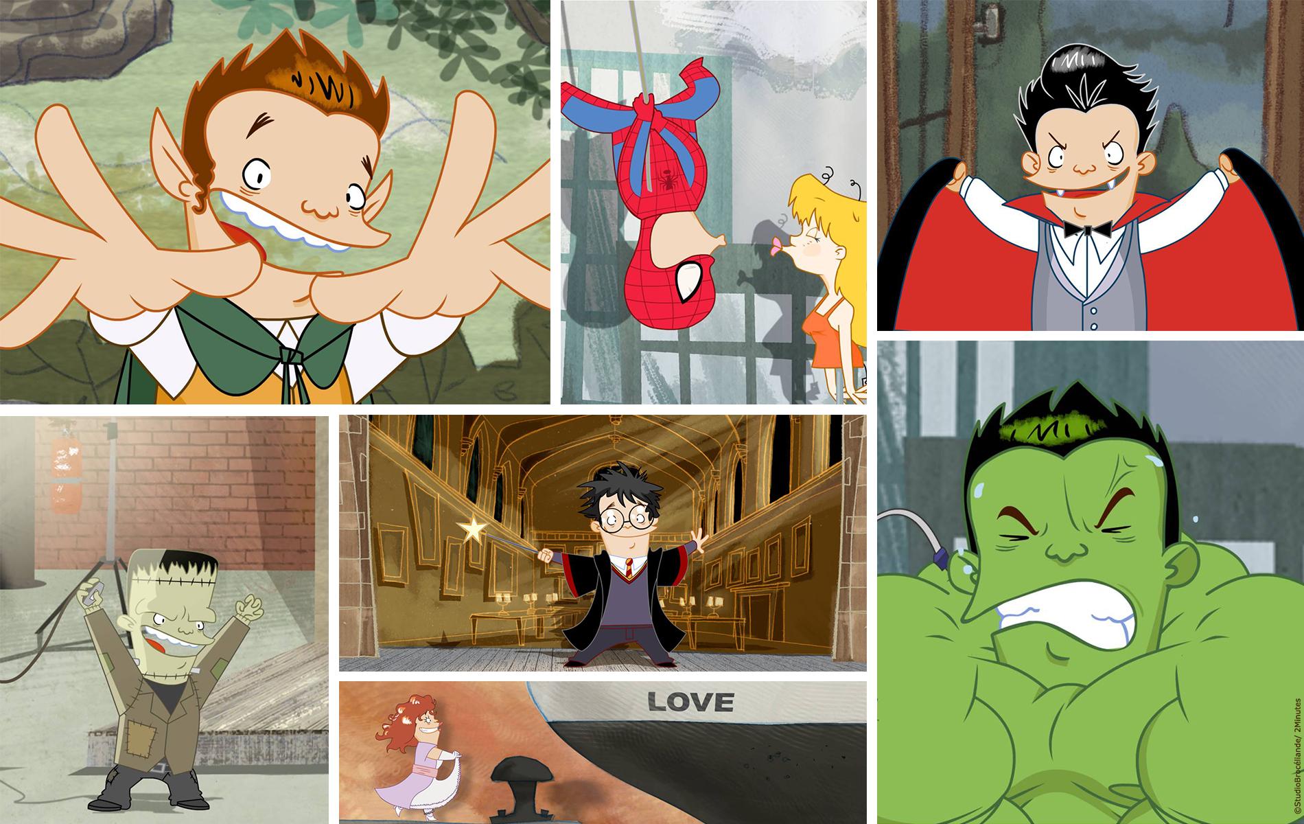Sam Spoiler décors, animatique, animation, compositing, montage par 2 minutes