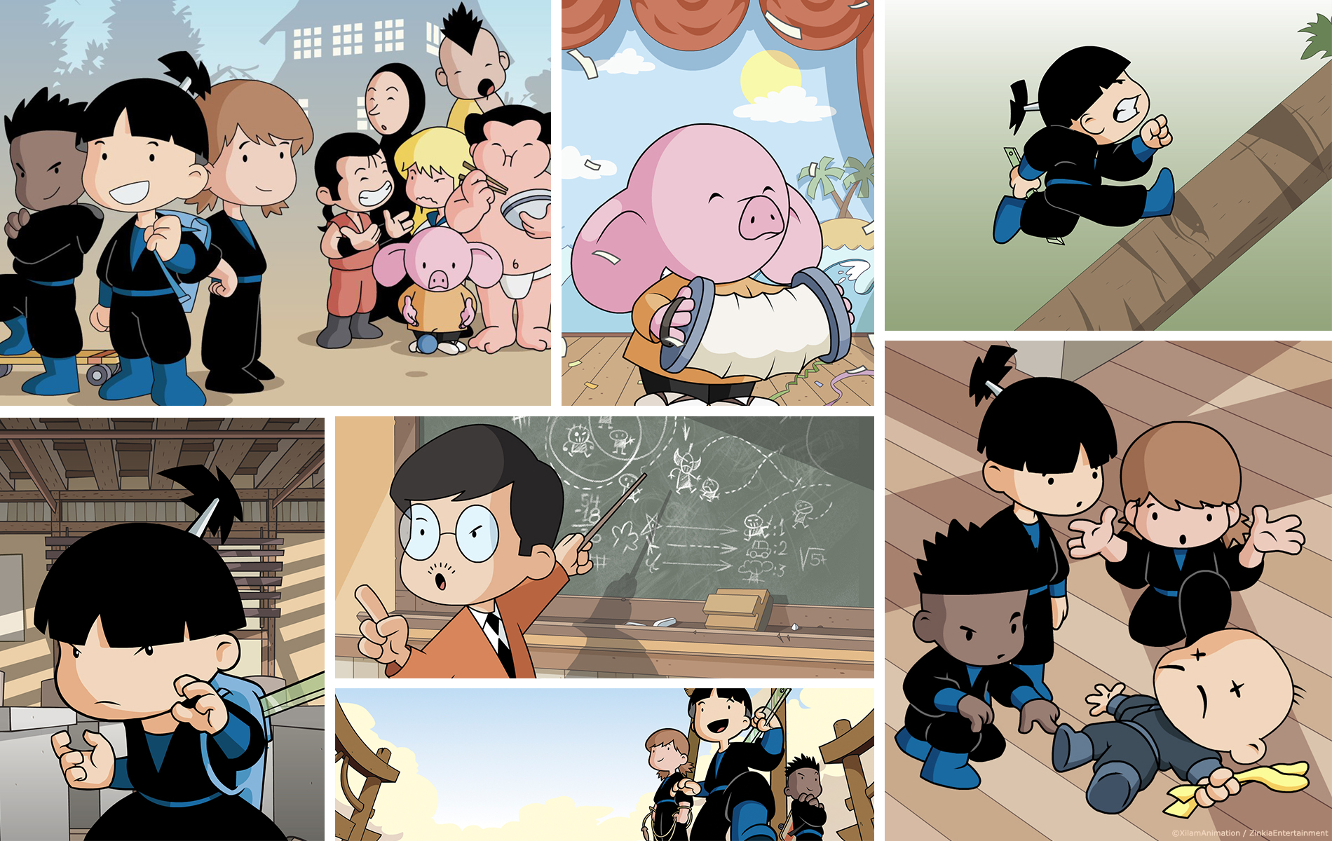Shuriken School - Dessin animée 2D - Diffuseur Gulli - Studio animation 2 minutes