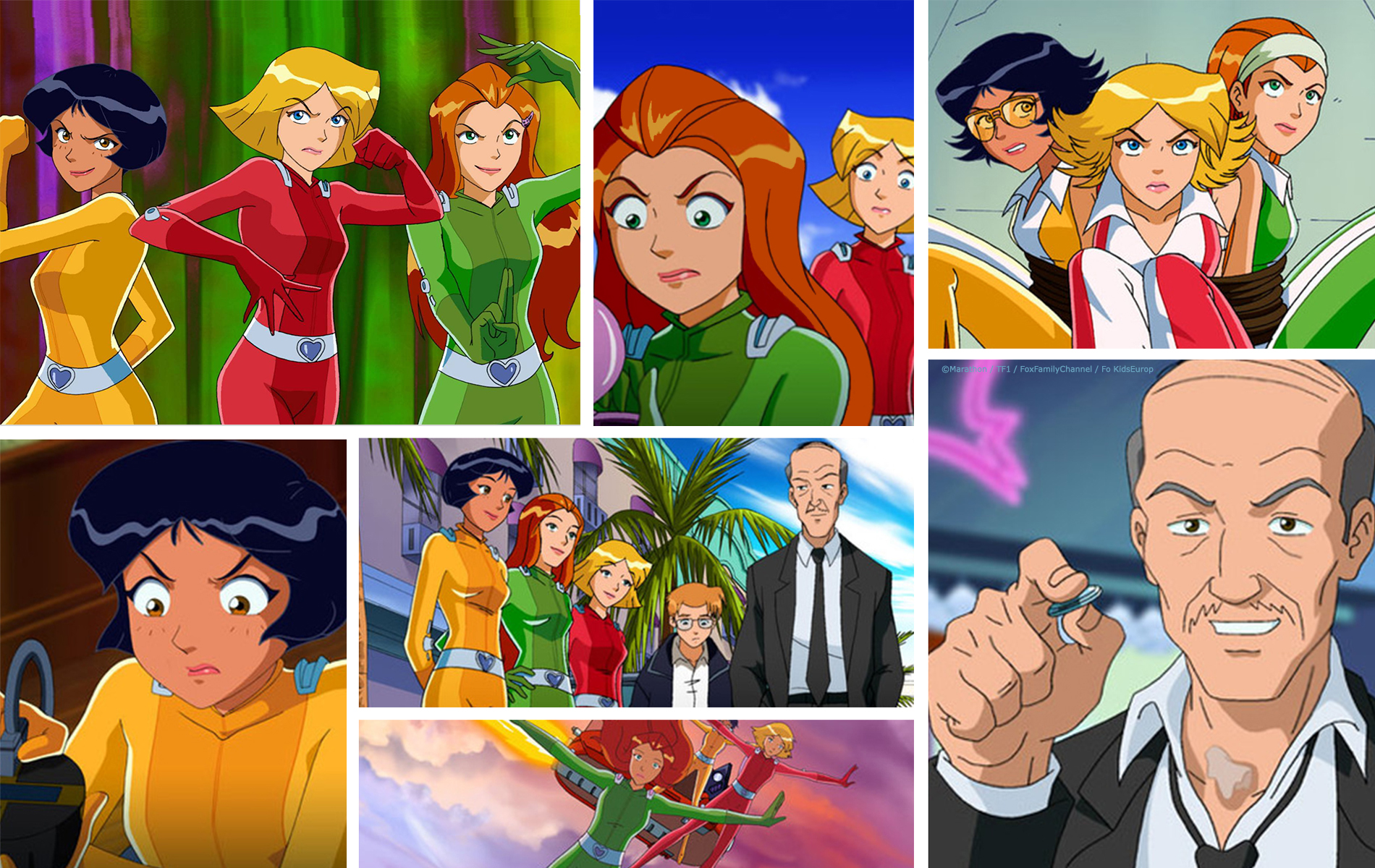 Totally Spies - Série TV enfant - Compositing 2 minutes